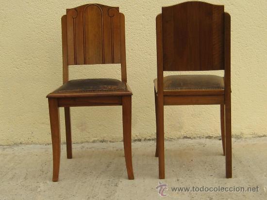 4 sillas en nogal macizo art dec comprar sillas for Sillas antiguas segunda mano