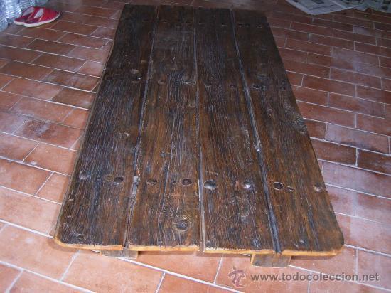 Mesa baja de puerta con clavos de forja comprar mesas - Mesas con puertas antiguas ...