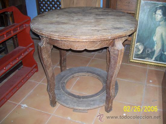 Mesa en madera de casta o con tablero redondo comprar - Patas para tableros ...