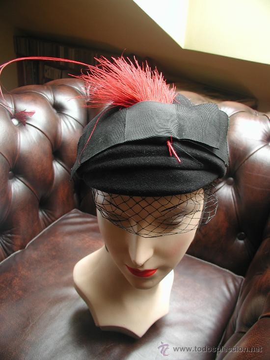 75f6a9d9f3c3e ANTIGUO SOMBRERO 1930 1940 MERRIMAC (Antigüedades - Moda - Sombreros  Antiguos)