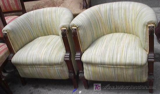 pareja sillones redondos en madera de caoba Comprar Sillones