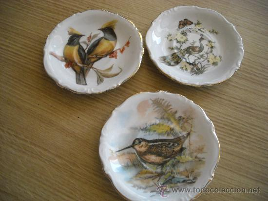 PRECIOSOS PLATOS DE 10CM DE PORCELANA DE LIMOGES (Antigüedades - Porcelana y Cerámica - Francesa - Limoges)