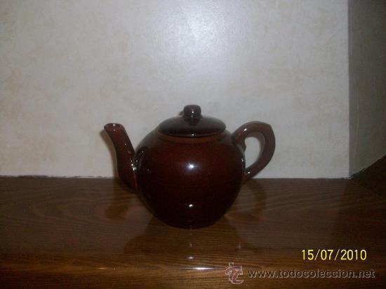 ANTIGUA TETERA ,LECHERA,CAFETERA (Antigüedades - Porcelanas y Cerámicas - Otras)