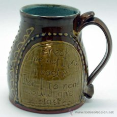Antigüedades: TOBY JUG JARRA PORCELANA INGLESA CON REFRÁN. Lote 20655909