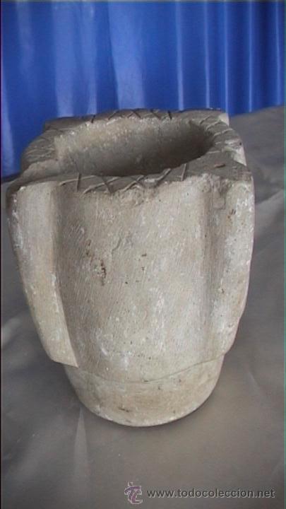 MORTERO PIEDRA SXVIII 20X16 AL CM (Antigüedades - Técnicas - Rústicas - Utensilios del Hogar)