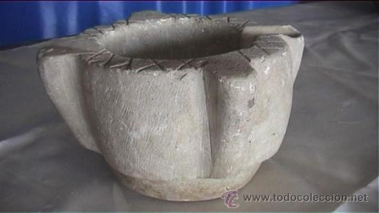 Antigüedades: MORTERO PIEDRA SXVIII 20X16 AL CM - Foto 3 - 20701043