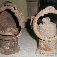 Antigüedades: 2 FAROLES DE CARRO. Lote 20707428