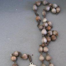 Antigüedades: ROSARIO CON PEQUEÑA MEDALLA DE S.CONRADUS A.PARZHAM (2CM APROX DIAMETRO, 51CM APROX DE LARGO). Lote 20790167