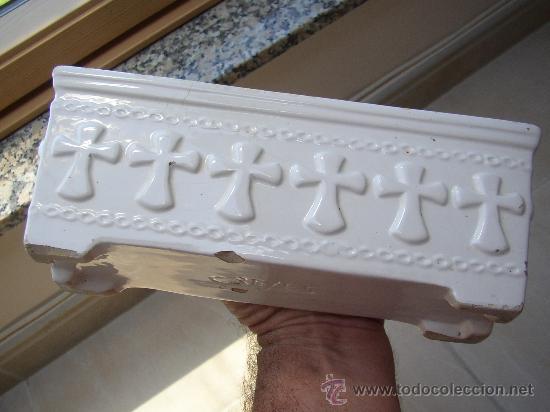 Antigüedades: Pequeño macetero con marca CREYES en la base 24x6 - Foto 3 - 25204485