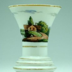 Antigüedades: JARRÓN FRANCES EN OPALINA TIPO GRANJA S XIX. Lote 20923764