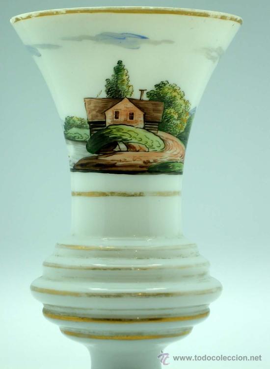 Antigüedades: Jarrón frances en opalina tipo granja S XIX - Foto 11 - 20923764