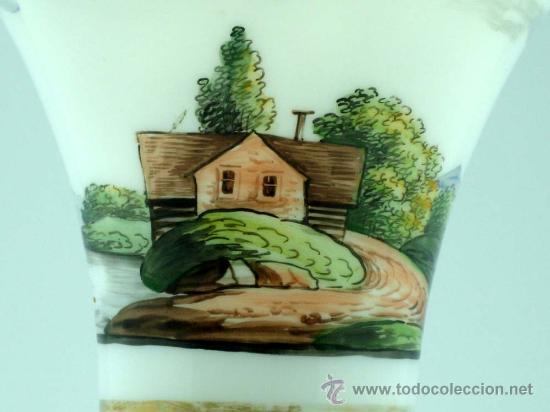 Antigüedades: Jarrón frances en opalina tipo granja S XIX - Foto 12 - 20923764
