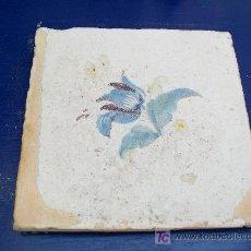 Antigüedades: AZULEJO LA FLOR . ALCORA. Lote 20986406