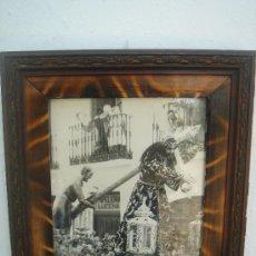 Antigüedades: FOTOGRAFÍA ANTIGÜA DE JESÚS DE NAZARENO DE BAENA, CON MARCO DE ÉPOCA. DIM.-32,5X26,5 CMS.. Lote 27505333