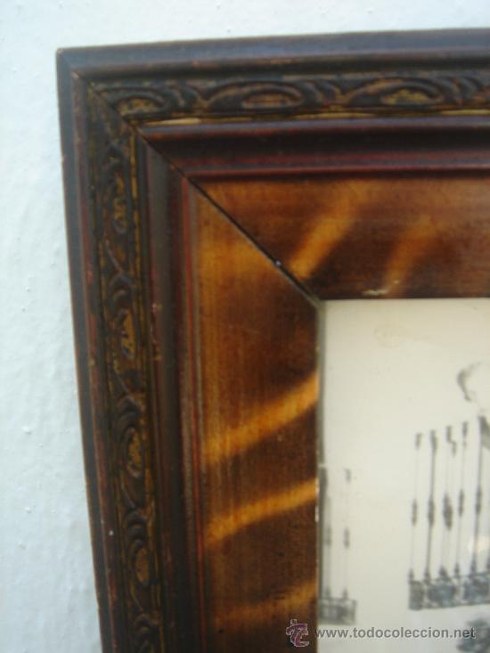 Antigüedades: DETALLE DEL MARCO DE MADERA - Foto 5 - 27505333