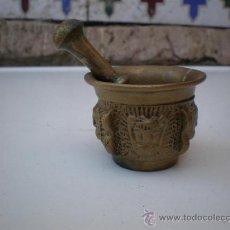 Antigüedades: PEQUEÑO MORTERO DE BRONCE. Lote 20999932