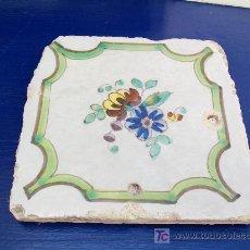 Antigüedades: AZULEJO DE LA FLOR. ALCORA. Lote 21003700