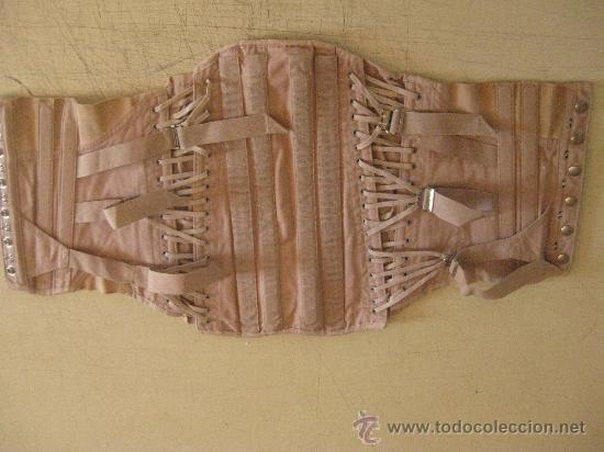 Antigüedades: CORSE CON BALLENAS ANTIGUO SEGURAMENTE PRIMERA MITAD DEL SIGLO XX COLOR CREMA - Foto 3 - 26759131