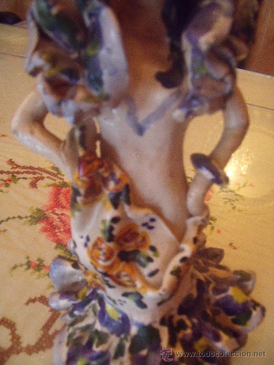 Antigüedades: PRECIOSA Y ANTIGUA FIGURA DE GITANA EN TERRACOTA DE TRIANA - Foto 3 - 26371049