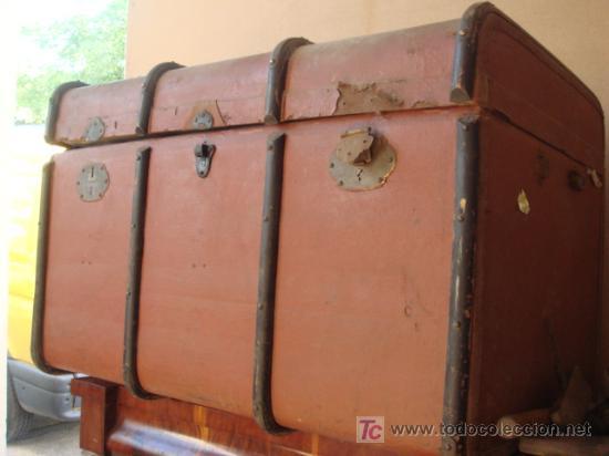 BAUL DE VIAJE (Antigüedades - Muebles Antiguos - Baúles Antiguos)
