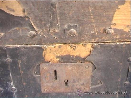 Antigüedades: BAUL AJUAR MONJAS SANTA MARIA DE CASBAS SXIX - Foto 6 - 21169638