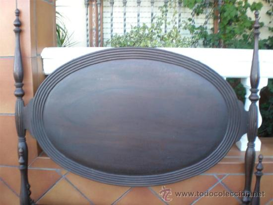 Antigüedades: cama de 90cm en caoba - Foto 2 - 21192205