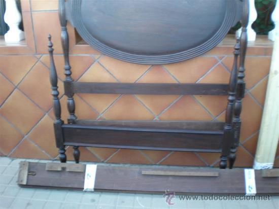 Antigüedades: cama de 90cm en caoba - Foto 3 - 21192205