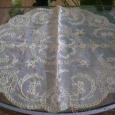 Antigüedades: * ANTIGUO TAPETE DE TUL BORDADO. Lote 53677071