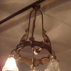 Antigüedades: LAMPARA ANTIGUA DE GAS ELECTRIFICADA. Lote 26542923
