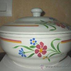 Antigüedades: SOPERA FRANCESA, MAGNIFICOS COLORES BRILLANTES.. Lote 26563555