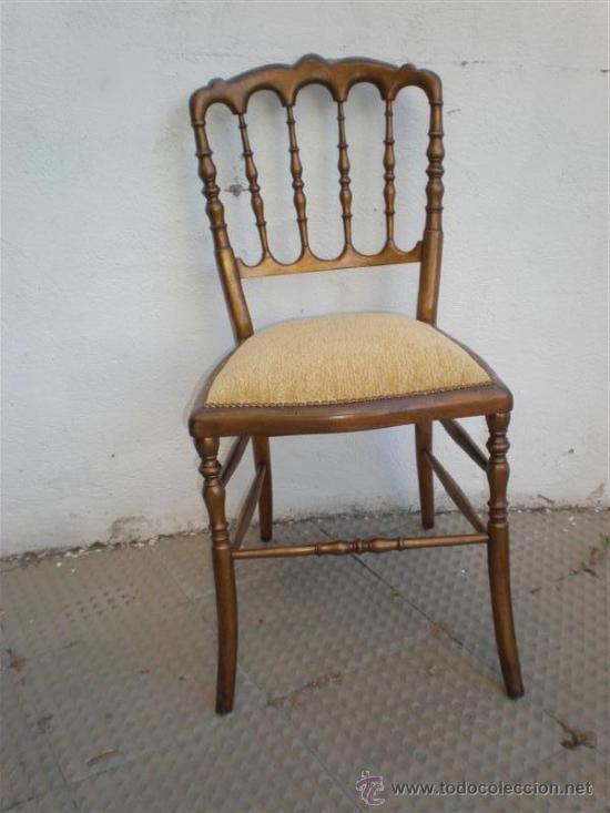 SILLA EN MADERA DORADA (Antigüedades - Muebles Antiguos - Sillas Antiguas)