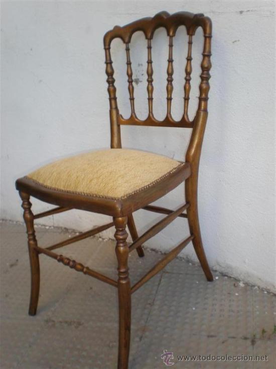 Antigüedades: silla en madera dorada - Foto 3 - 21378719