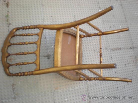 Antigüedades: silla en madera dorada - Foto 5 - 21378719