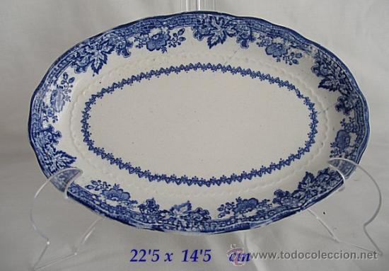 FUENTE OVALADA ANTIGUA CARTUJA PICKMAN PEQUEÑA (Antigüedades - Porcelanas y Cerámicas - La Cartuja Pickman)