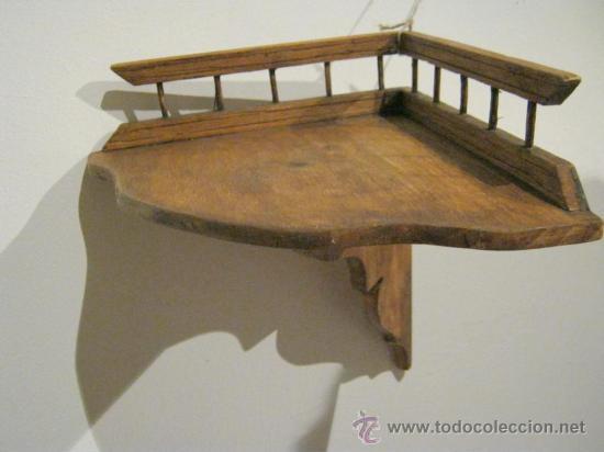 Antigua balda repisa esquinera de madera comprar repisas antiguas en todocoleccion 27061321 - Balda de madera ...