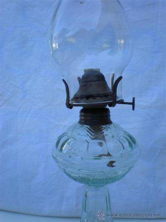 Antigüedades: quinque de cristal - Foto 2 - 21463479