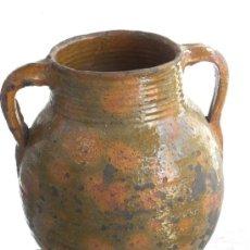 Antigüedades: PUCHERO, OLLA U ORZA GRADIANA (NO CANTARO) VIDRIADO COLOR MELADO ( GRANADA) PRINC, S XX. Lote 26398714