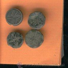 Antigüedades: ARQUEOLOGIA. INTERESANTE LOTE. BOTONES MEDIEVALES.MUY ANTIGUOS. 4 DE IGUALES. . Lote 23688825