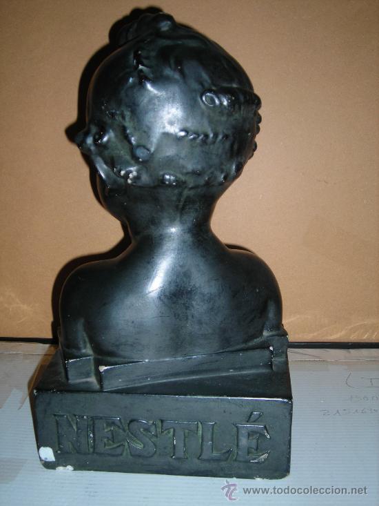 Antigüedades: (M) DISPLAY PUBLICIDAD NESTLE - NIÑO DE YESO PUBLICITARIO DE LA MARCA NESTLE , AÑOS 20 ( ORIGINAL ) - Foto 5 - 26859548
