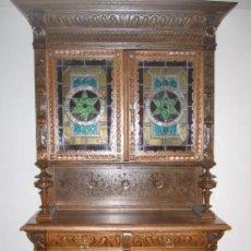 Antigüedades: PRECIOSO BUFETE DE ROBLE MACIZO. Lote 26868171