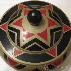 Antigüedades: CAJA EN METAL ESMALTADO ART DECÓ. Lote 26780608
