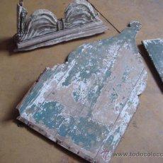 Antigüedades: PIEZAS ANTIGUAS PARA DECORACION- ALTO 98 X ANCHO 50 CM- PIEZA PEQ ALTO 25 X ANCHO 56 CM. Lote 24846299