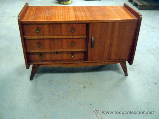 Mueble aparador o comoda de los a os 50 60 comprar c modas antiguas en todocoleccion 24125585 - Mueble anos 50 ...