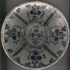 Antigüedades: PLATO. CERAMICA. ANTIGUA. CATALANA. CATALUNYA.MEDIADOS. SIGLO XIX.AZUL.LLEIDA..CIRERETA. ANTIGA.PLAT. Lote 25014669