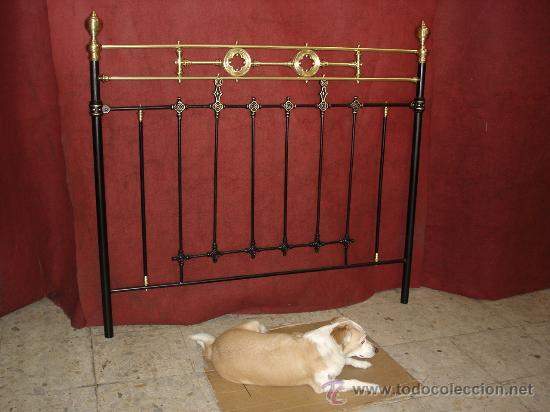 Cabecero de cama hierro forjado con lat n antig vendido - Camas antiguas de hierro ...