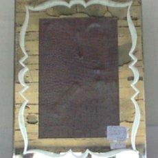 Antigüedades: PORTARRETRATO MARCO ESPEJO. Lote 21642028