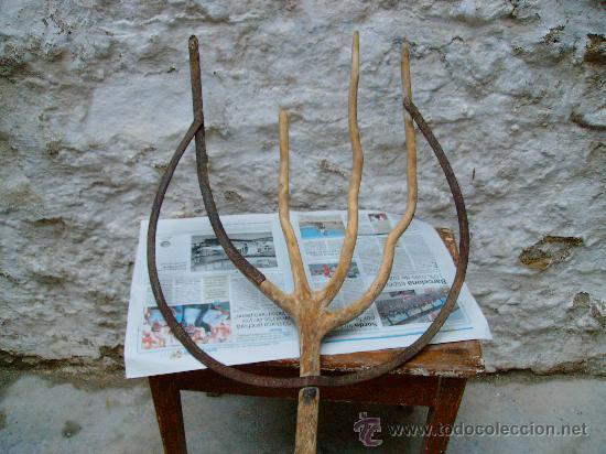 Antigüedades: forca antigua de madera y forja. - Foto 5 - 21642853