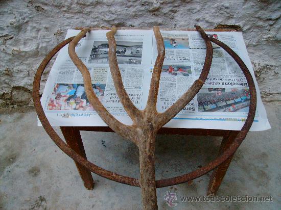 Antigüedades: forca antigua de madera y forja. - Foto 4 - 21642853