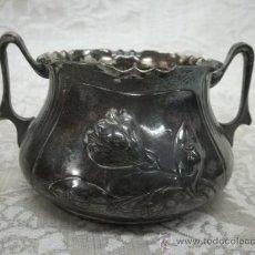 Antigüedades: AZUCARERO ART NOUVEAU EN PLATA. Lote 21644209