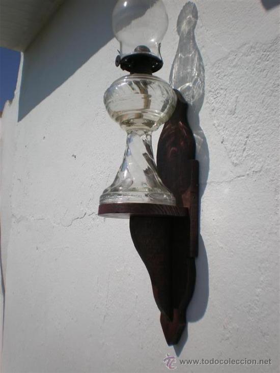 Antigüedades: quinque de cristal y repiza - Foto 3 - 21661442